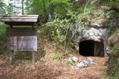 Monte Lefre, ingresso della cannoniera-osservatorio